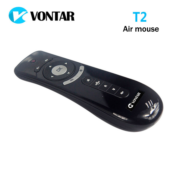 Originale mini tastiera T2 Air mouse senza fili 2.4G 3D rivelare il movimento del mouse aria T2 telecomando per Smart Android TV Box PC