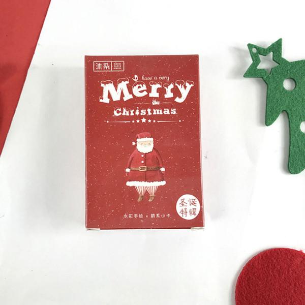 54 adet / kutu Merry Christmas lomo kartları hediye mesajı Tebrik kartı Yılbaşı Yeni Yıl kartpostal tatil evrensel çocuk imi