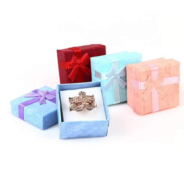 Fashion Colorful New 4*4cm Jewery Organizer Box Rings Storage Cute Box Small Gift Box For Rings Earrings 4 Colors