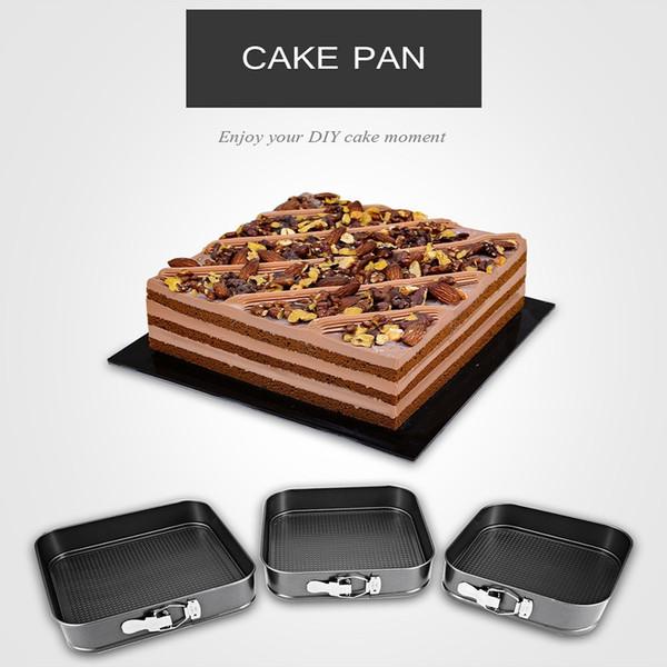 Original 3pcs/lot Cookies Cake Pan Non-stick Rectangular Carbon Steel Bakeware Suitable And Convenient For Baking Cake
