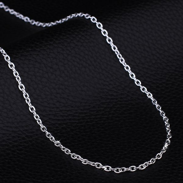 New Men chain Classic Necklace Figaro Link Chain 925 Silver colour Filled Women Wholesale Jewelry X214