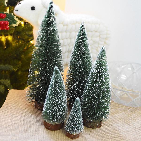 árvore Árvore da vara Rosequeen10CM / 15cm / 20cm / 25cm / 30cm Mini Natal White Cedar desktop Árvore de Natal pequena Mini Natal Nova