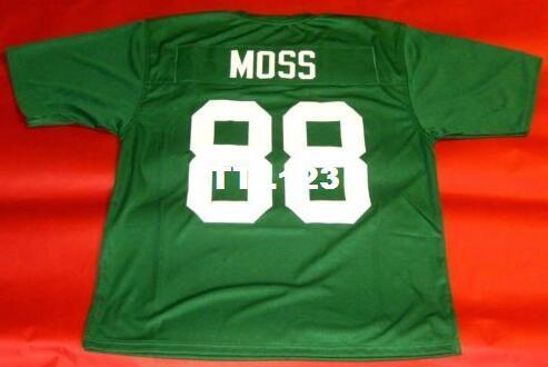 Men CUSTOM MARSHALL THUNDERING HERD #88 RANDY MOSS CUSTOM GREEN College Jersey size s-4XL or custom any name or number jersey