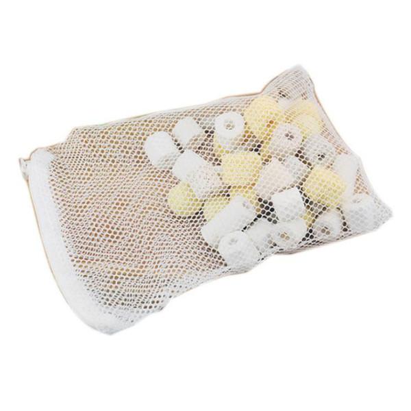 best selling White Aquarium Mesh Bag Aquarium Pond Filter Net Bag For Media Ammonia Aquarium Fish Tank Isolation Bag F20173352