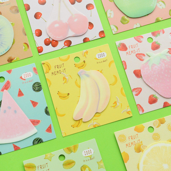 24 pcs/Lot Summer fruit memo pads Cute sticky notes book marker label Kawaii sticker Stationery office School supplies A6363