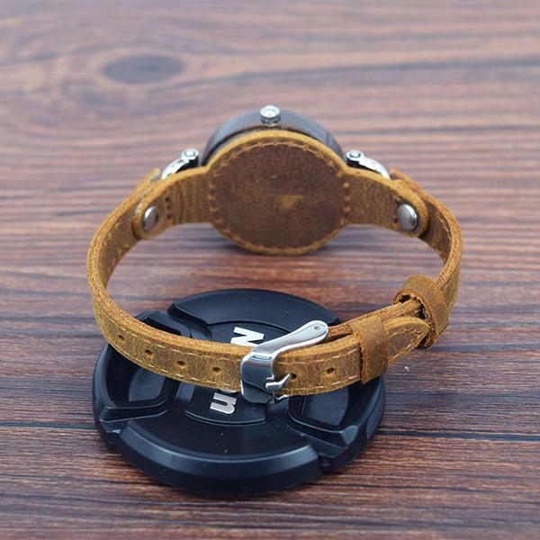 Stylish Handmade Wooden Watch for Women Men Hand-made Bamboo Wristwatch Natural Women Wooden Quartz Watches