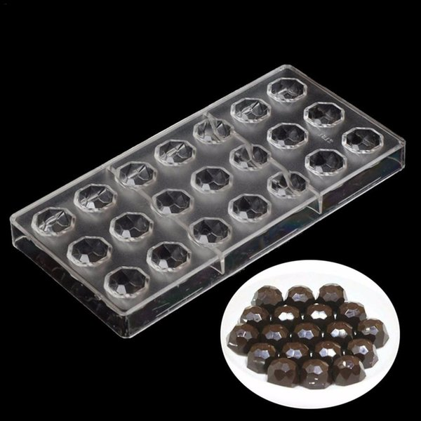 24-Link DIY 3D Football Shape Chocolate Mold Food Grade Polycarbonate Chocolate Mould Baking Candy Pastry Tools For Cakes