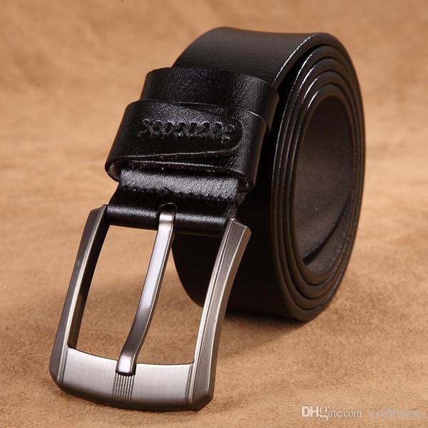 мужчины высокое качество натуральная кожа ремень роскошные дизайнерские ремни мужчины коровьей моды ремень мужские джинсы для человека ковбой бесплатная доставка