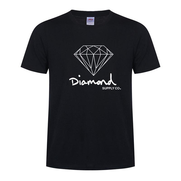 New Cotton Mens T Shirts Fashion Short-sleeve Printed Diamond Supply Co Male Tops Tees Skate Brand Sport Clothes Clothes Free Shipping