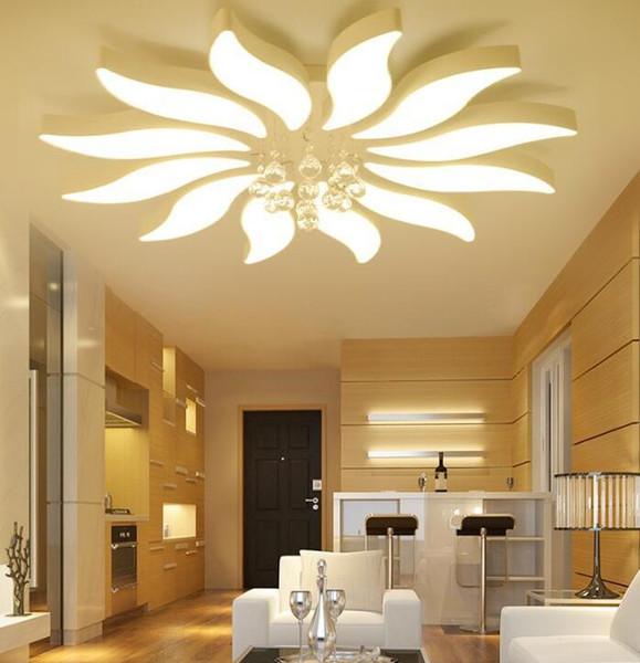 Großhandel Neue Runde Wohnzimmer Lampe Petal Schlafzimmer Lampe Halle Led  Deckenleuchte Moderne Beleuchtung Einfache Wohnzimmer Scheinwerfer Led Von  ...