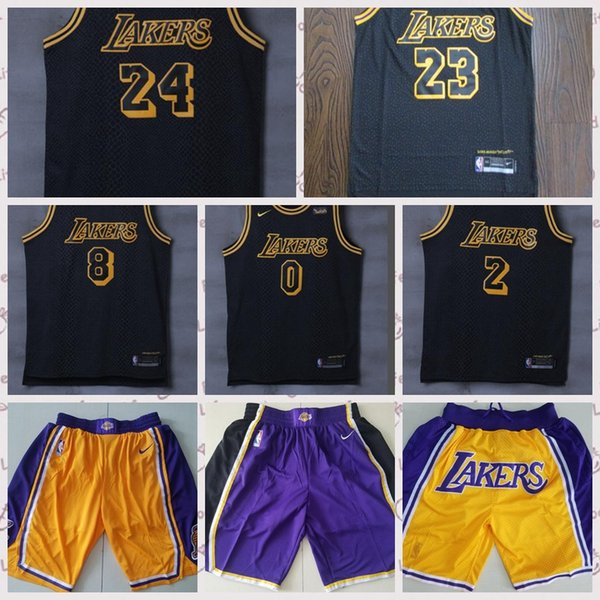 outlet store 5f360 2c66c 2018 23 Lebron James Lebron Lakers Jersey 24 Kobe Bryant Los Angeles Lakers  0 Kyle Kuzma 2 Lonzo Ball 14 Brandon Ingram Basketball Jersey From ...
