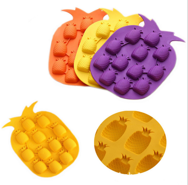 Pineapple Shaped Ice Molds Ice Cream Cubes Choclate Maker Bar Party Ice Tray Cube Freeze Mold Kitchen Bar Accessories