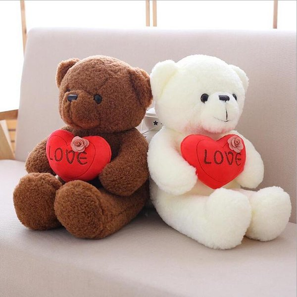 Hug Heart Bear Plush Toy Stuffed Animal Teddy Bear Plush Doll Best Gift For Children & GirlFriend