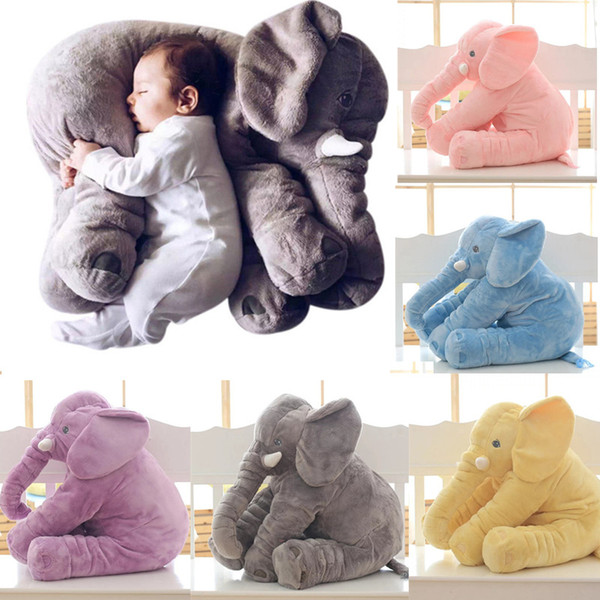best selling 40cm Elephant Plush Toys Elephant Pillow Soft For Sleeping Stuffed Animals Toys Baby 's Playmate Gifts for Children Kids