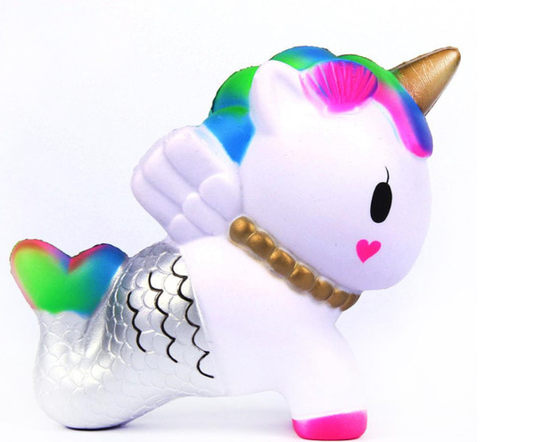 Squishy unicorn toys Squishy Horse mermaid Super Slow Rising Pegasus Squeeze Soft Scented Stress Relief Decoration Toy Kids Christmas Gift A