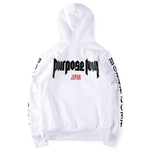 Moda Justin Bieber Hoodies Purpose Tour Japan Hoodie High Street Hoodies Sudadera con capucha Diseñador Sudadera con capucha para hombres y mujeres