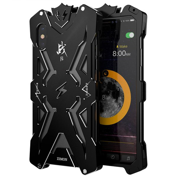 SIMON THOR Metal Bumper Shockproof Case Slim Cover High Quality Aviation Aluminum Phone Case For iPhone X XS XR XS MAX