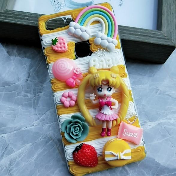New For oneplus 5/5T DIY case, 3D sailor moon cover for oneplus5T handmade cream candy cartoon case for oneplus 6 /5t girl gift