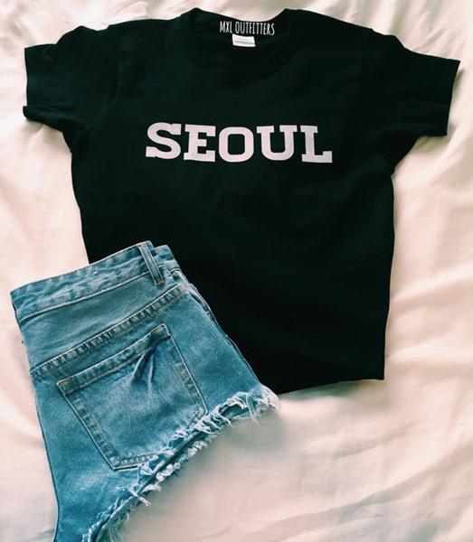 OKOUFEN BTS K-pop seoul T-shirt fashion High Quality tumblr women fashion clothing letter printed t shirts unisex graphic tees Y1891306