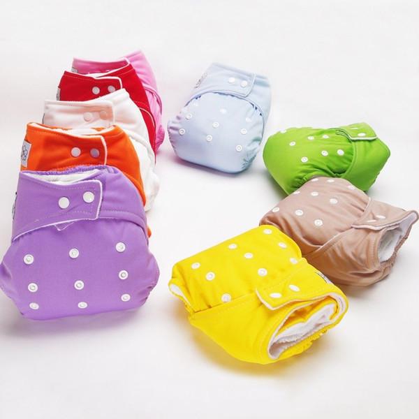 1 Unid. Nuevo Diseño Bebé Ajustable Paño de Algodón Suave Pañal Pañal Transpirable Bebé Recién Nacido Bebé Todo en Un Tamaño
