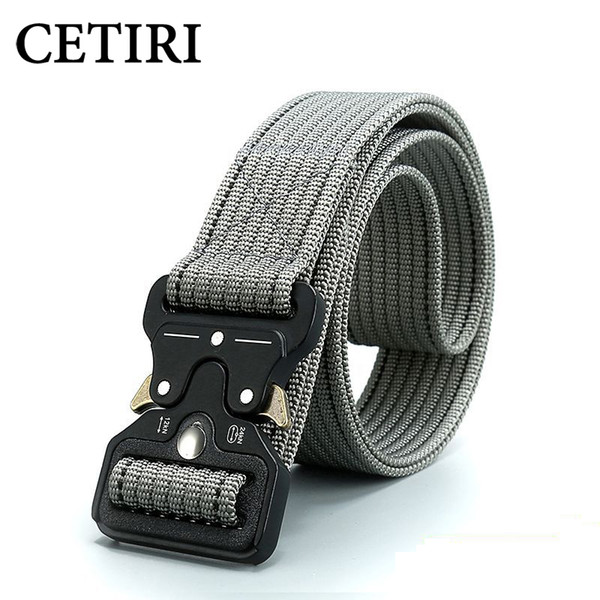 CETIRI  Equipment Army Tactical Men Belts Nylon Combat Belts with Heavy-Duty Quick-Release Metal Buckle