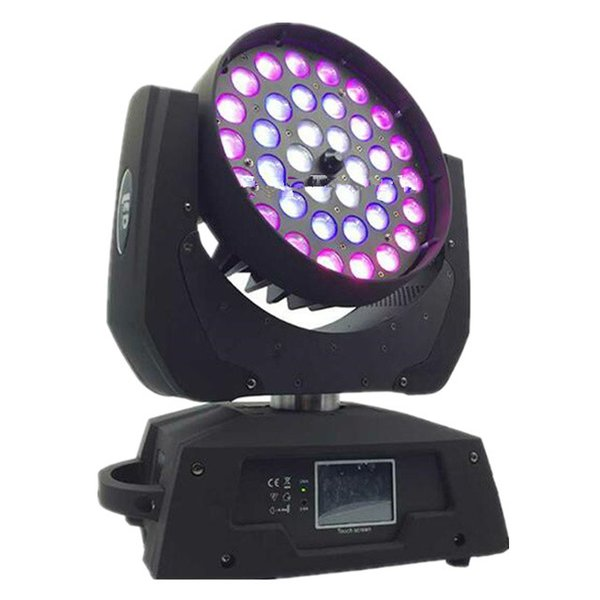 2 pz / lotto DMX 512 cerchio 3 anelli 36 * 18 W RGBWAUV 6IN1 Led zoom wash Moving Stage light