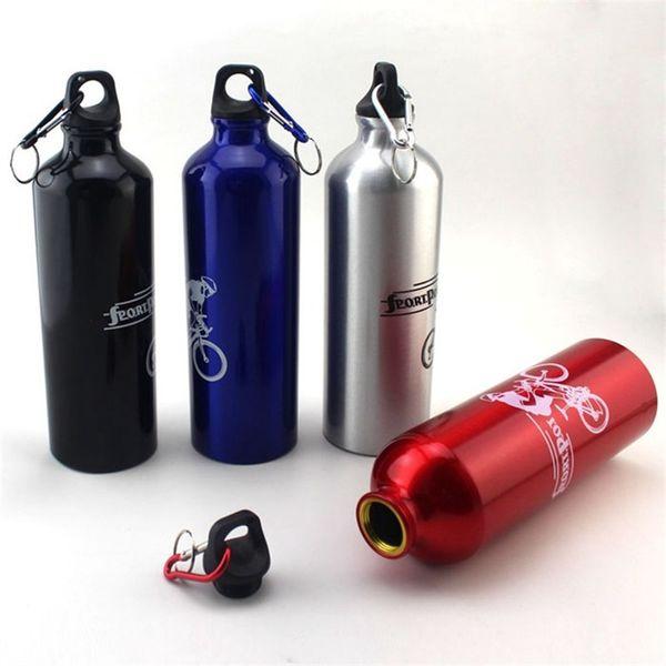 Eco amigable Metal Botella de agua Aleación de aluminio Diseño portátil Taza de vacío Cerca de 500 ml Fugas Caldera de estilo para montar 3 8yj ZZ