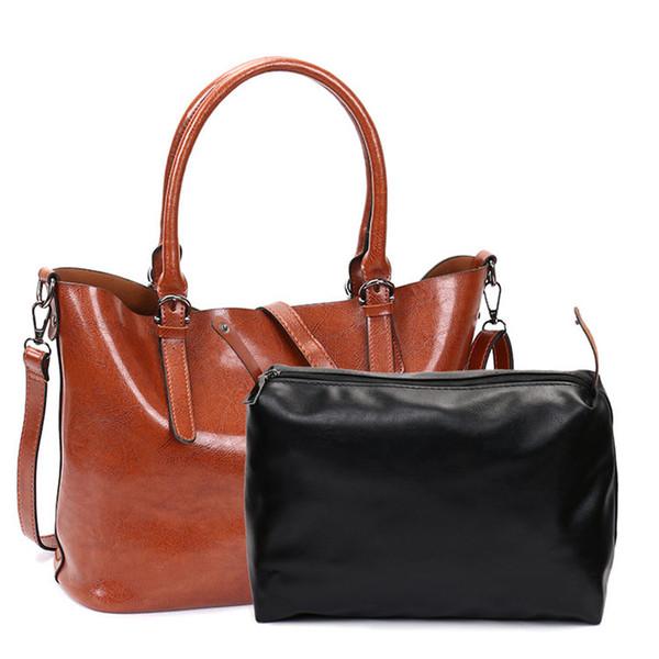 Fashion Vintage Designer Handbags Women Leather Shoulder Bag Women Casual  Large Crossbody Purse 2080 Bags Store dbc39716b5