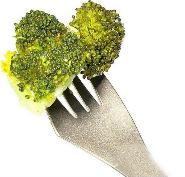 400pcs Fork spoon spork 3 in 1 tableware Stainless steel cutlery utensil combo Kitchen outdoor picnic scoop/knife/fork set