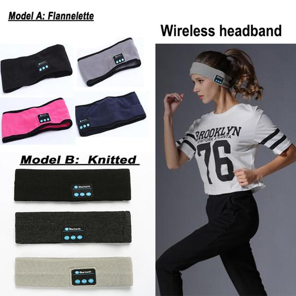Yeni örgü müzik kafa kulaklıklar mic ile kablosuz bluetooth kulaklık kulaklık koşu yoga gym uyku spor kulaklık için hoparlör