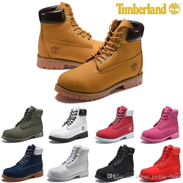 Stiefel aus echtem Leder Männer Frauen Schnee Stiefel Casual Martin Stiefel Großhandel Mode Marke Schuh