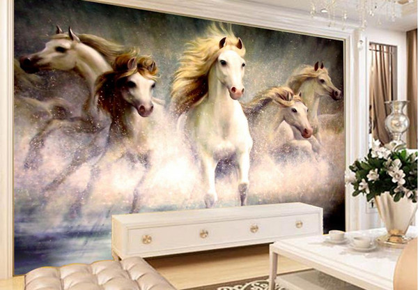 Benutzerdefinierte Stereoskopische 3D Tapete Wanma Pentium Malerei Tapeten  Für Wohnzimmer TV Hintergrund Home Verbesserungen Schallschutztapete