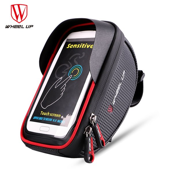 WHEEL UP Waterproof Sport MTB Road Bike Front Bag 6.0 inch Touchscreen Bike Cellphone Bag Bicycle Top Tube Cycling Pouch