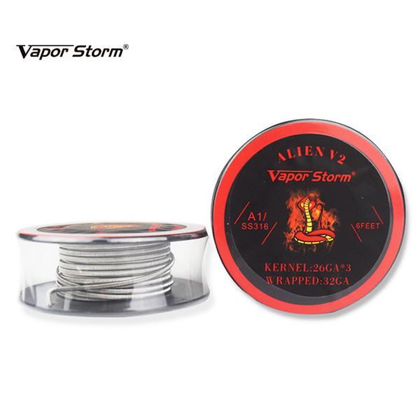 Vapor Storm Alien V2 Coil Wire A1 SS316 Heating Wire 2/3/4 Core Fused C High Density RDA RBA RDTA Rebuildable Atomizer Heating DIY Coil Wire