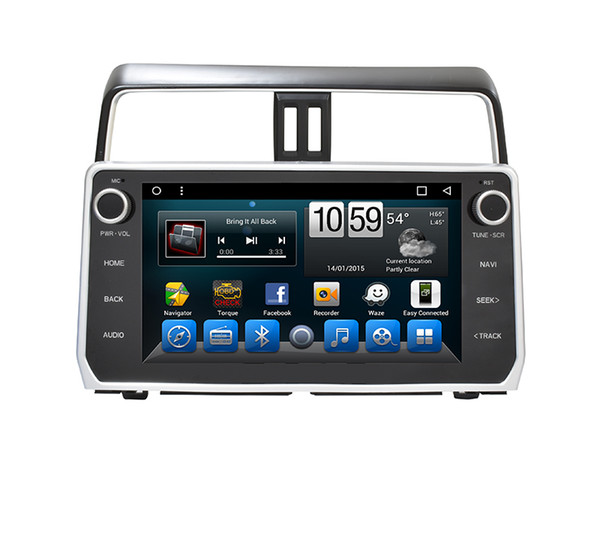 2018 New 10.1 inch full touch HD Screen Android Car DVD player for Toyota Prado 2018 with GPS,Steering Wheel Control,Bluetooth