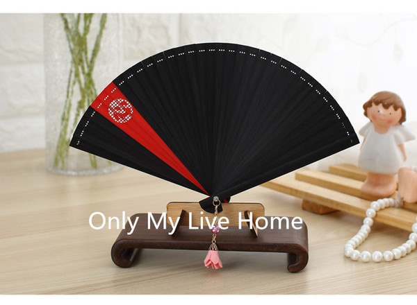 Patchwork Handheld Mini Portable Fan for Women Full Bamboo Folding Fan Chinese Traditional Craft Japanese Fans for Weddings