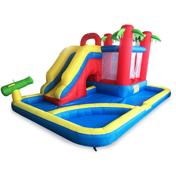New Design Inflatable Combo Bounce House Bouncy Castle Moonwak Ball Pit Water Slide Party For Kids