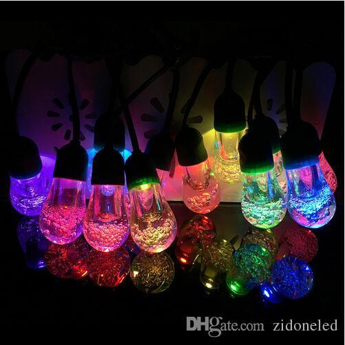 2.2M 12 bulbs led solar string light crystal solar powered LED fairy string lights for outdoor garden home decoration