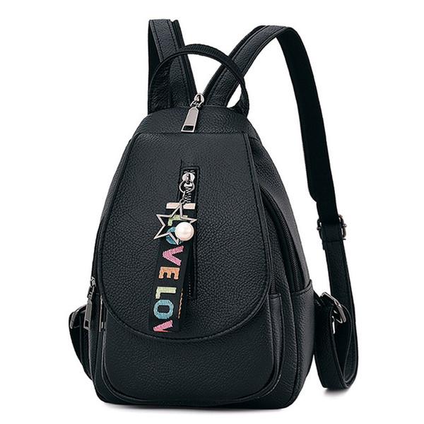 New Women Backpack Bag Multi-purpose Dual-use Chest Bag PU Leather travel backpack Female school backpacks Casual school