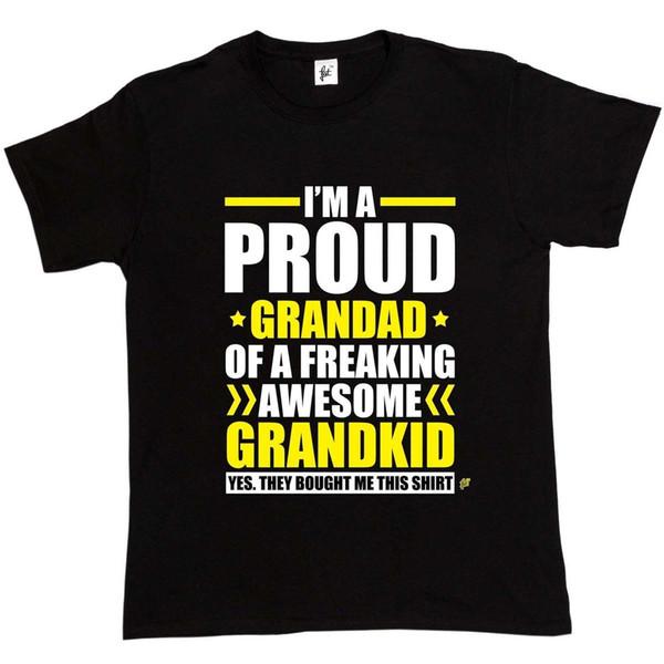 Я гордый дедушка офигенной мужской футболки Grandkid