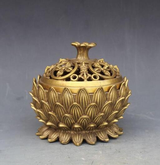 Восемь благоприятный Лотос ладан шуй бронзовые украшения