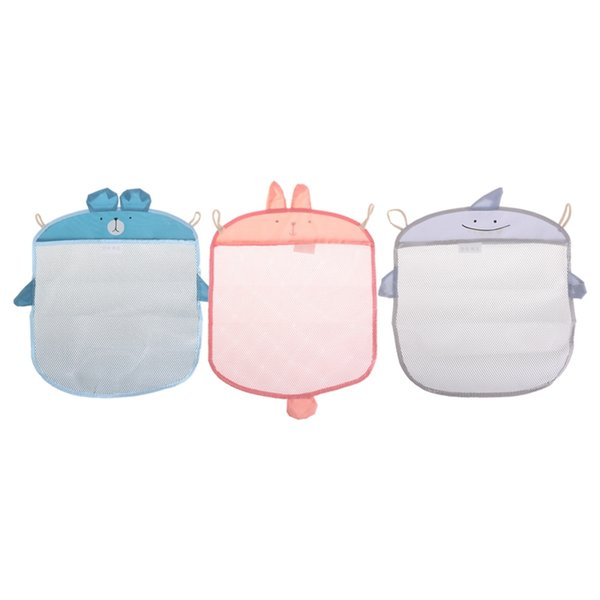 40*35cm Child Bathroom Mesh Bags Bath Toy casual Bag Organiser Net Suction Baskets Kids Creative Folding Eco-Friendly