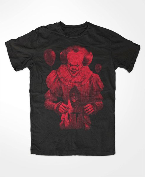Pennywise IT T-Shirt Kult,Movie,Horror,Voorhees,Jason,Freddy,ES, IT,Blood Hip Hop Novelty T Shirts Men'S Brand Clothing top tee