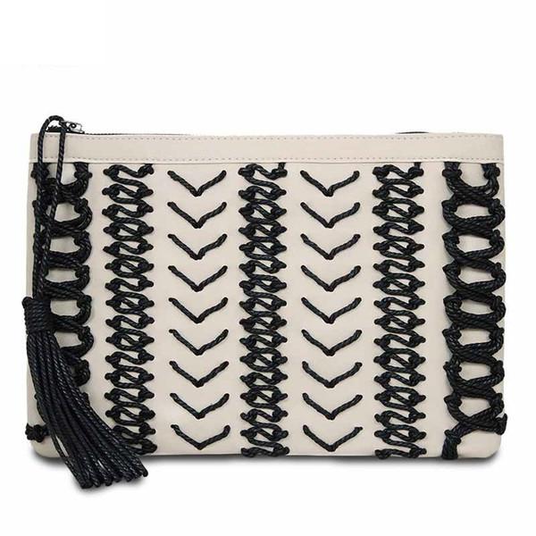 Fashion tassel Women's Clutches Manual Knitting women clutch wallet bag luxury Ladies evening bags Handbags bolsa franja
