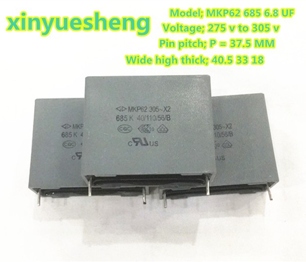 MKP62 X2 685 275v 305V 6.8uf p=37.5mm farrah ampere capacitance, inhibits electromagnetic interference of power supply, 6 PCS in a package