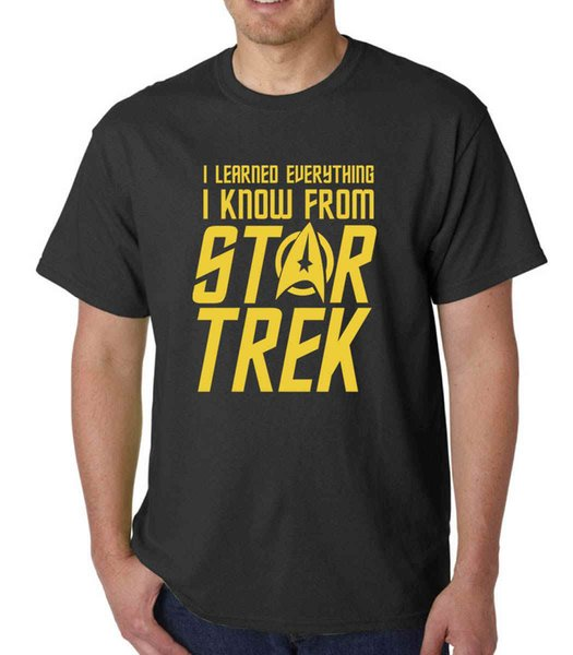 I Learned Everything I Know from Star Trek t-shirt KIRK SPOCK GEEK FUNNY QUOTE