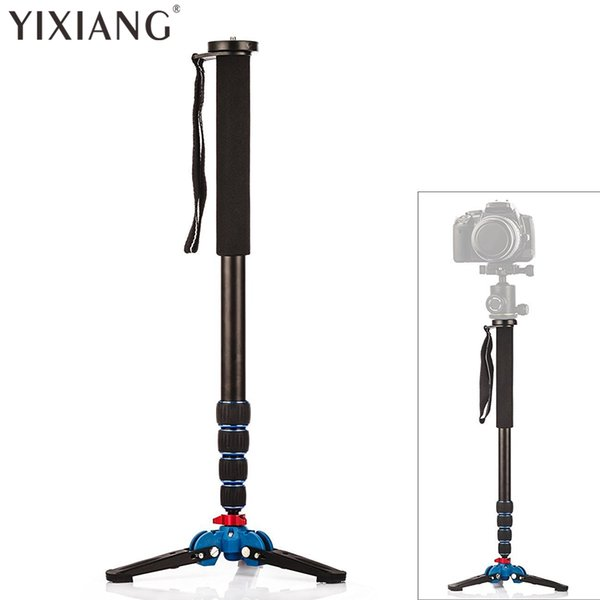 YIXIANG Professional 65-inch Camera Aluminium Monopod with Folding Three Feet Support Stand Tripod Balance Stand Base - Shoulder