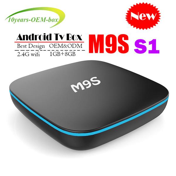 2018 Cheapest M9S S1 Android smart Tv Box Quad Core 1GB 8GB H3 Chip Support Wifi 4K 3D Media Player Smart Tv Box Better TX3 H96 MINI T95Z