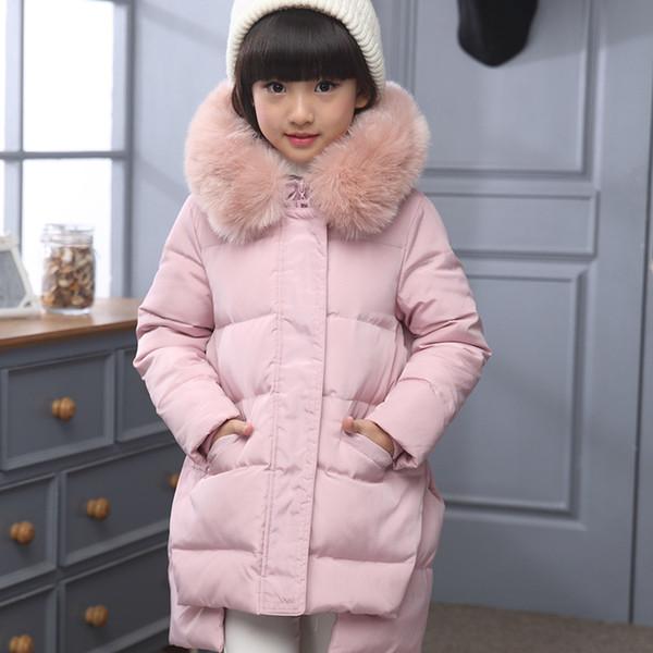 Mode Russland Warme Entendaunen Oberbekleidung Kalt Jacke 30 Kinder Winterjacke Dicke Grad Mantel Daunenjacke Für Von Großhandel Mädchen IbY7yv6mfg