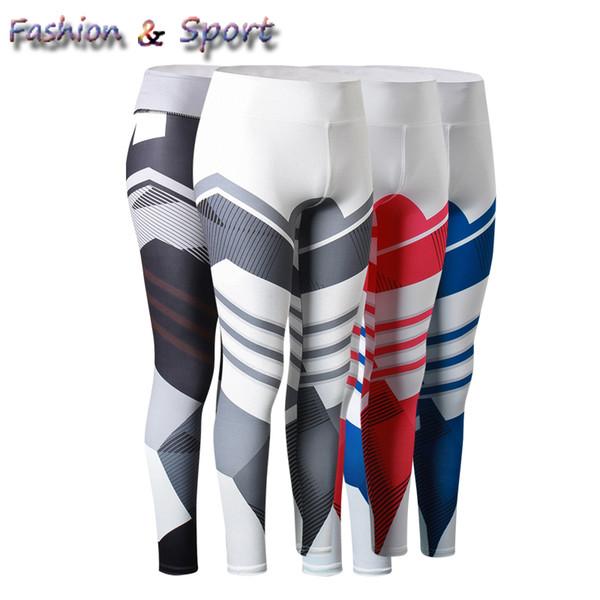 Women pants stripe compression tights GYM Clothing yoga capris fitness pants plus size high elastic B5017